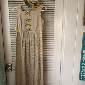 Dresses & Skirts - Authentic Vintage Boho Linen & Eyelet Sundress